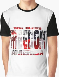 God Bless America -  Freedom Graphic T-Shirt