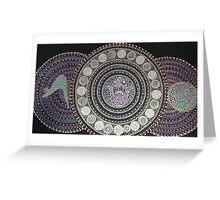 zen yoga Greeting Card