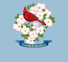 North Carolina State Bird and Flower Womens Fitted T-Shirt