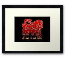 Year of The Sheep Goat Ram Framed Print