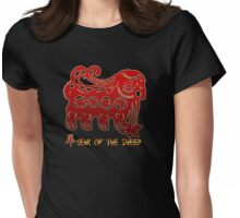 Year of The Sheep Goat Ram Womens Fitted T-Shirt