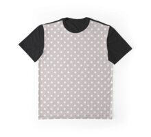 Gray and White Classic Polka Dots Graphic T-Shirt