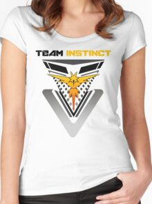 Pokemon Go Team Instinct Women's Fitted Scoop T-Shirt