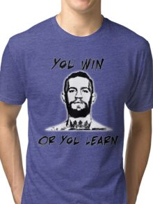 Conor McGregor UFC Black and White T Tri-blend T-Shirt