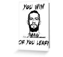 Conor McGregor UFC Black and White T Greeting Card