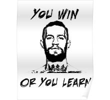 Conor McGregor UFC Black and White T Poster