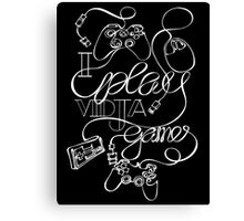I Play Vidja Games (White) Canvas Print