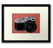 Leica Vintage Film Photography Camera Acrylic Painting Framed Print
