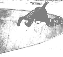 Skateboard -- carving the bowl 1 by ThymeJJ