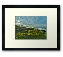 Pacific Coast Sunrise - Cambria, California Framed Print