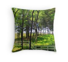Spring Hill in Summer Throw Pillow