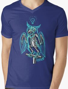 Skeleton of an Owl, with ghostly overlay Mens V-Neck T-Shirt