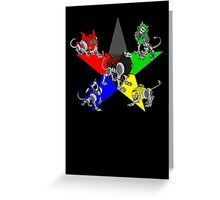 Voltron Lions Greeting Card