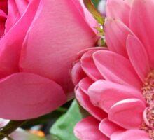 Pink Rose & Sunflower Sticker