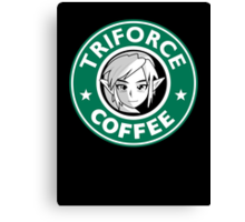 Triforce coffee 1 Canvas Print
