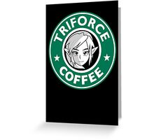 Triforce coffee 1 Greeting Card
