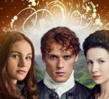 Outlander book/Jamie, Claire & Brianna Sticker