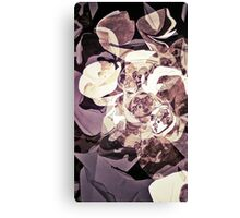 Purple Orchid Chaos - Floral Geometry Study  Canvas Print