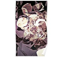 Purple Orchid Chaos - Floral Geometry Study  Poster