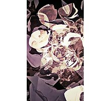 Purple Orchid Chaos - Floral Geometry Study  Photographic Print