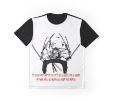 Asura Zoro Version Black & Blood Graphic T-Shirt