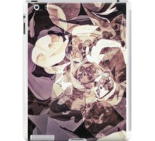 Purple Orchid Chaos - Floral Geometry Study  iPad Case/Skin
