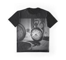 Three Black and White Clocks Graphic T-Shirt