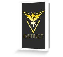 Pokemon Go Team Instinct Greeting Card