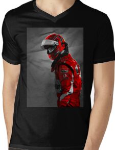 schumacher Mens V-Neck T-Shirt