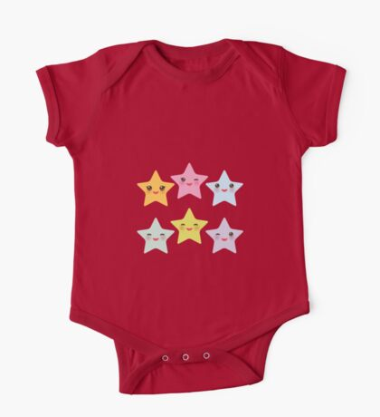 Smiling Stars One Piece - Short Sleeve