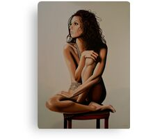 Eva Longoria Painting Canvas Print