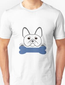 Frenchie Boy Blue Unisex T-Shirt