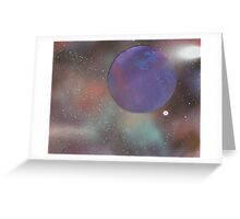 Purple Planet in Space Greeting Card