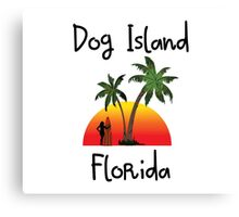 Dog Island Florida. Canvas Print