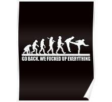 Funny Human Evolution Poster
