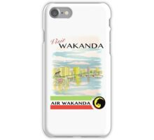 Visit Wakanda- Vintage Travel Ad iPhone Case/Skin