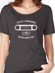 Toyota 40 Series Landcruiser FJ40 LX Round Bezel Est. 1960 Women's Relaxed Fit T-Shirt