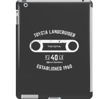 Toyota 40 Series Landcruiser FJ40 LX Round Bezel Est. 1960 iPad Case/Skin