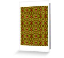Acid Green Design K Greeting Card