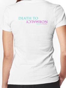 Death to Normalcy Women's Fitted V-Neck T-Shirt