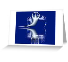 Ghost Peeble Fractals Greeting Card