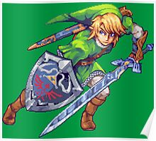 Legend of Zelda - Link Pixel Art Poster