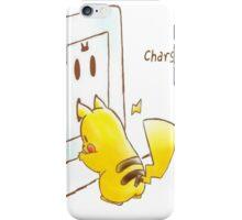 Pikachu - Charging iPhone Case/Skin