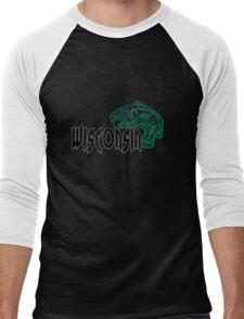 FISH WISCONSIN VINTAGE LOGO Men's Baseball ¾ T-Shirt