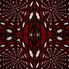 Red and Black 3D Kaleidoscope Pattern  by Charldia