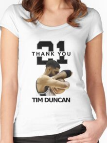 Thank You Timmy - Spurs NBA  Women's Fitted Scoop T-Shirt