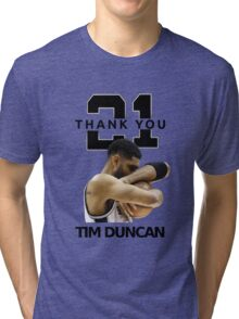 Thank You Timmy - Spurs NBA  Tri-blend T-Shirt