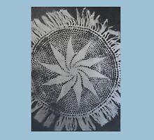 Silver Flower Swirl Unisex T-Shirt