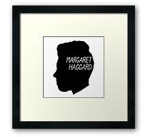 Margaret Haggard Logo - Black Framed Print