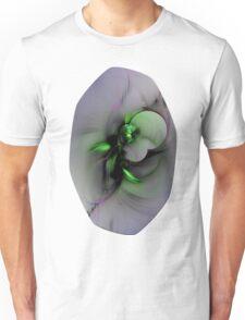 Abstract in Black and Green Unisex T-Shirt